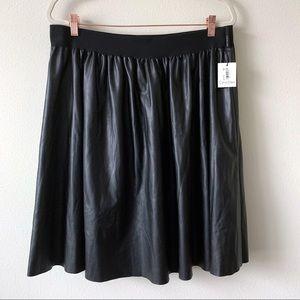 Calvin Klein Plus Faux Leather Skirt Sz 1x